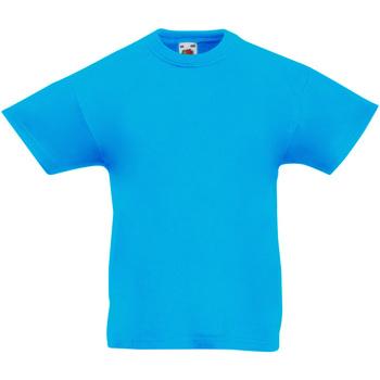Abbigliamento Unisex bambino T-shirt maniche corte Fruit Of The Loom 61019 Azzurro