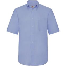 Abbigliamento Uomo Camicie maniche corte Fruit Of The Loom 65112 Azzurro