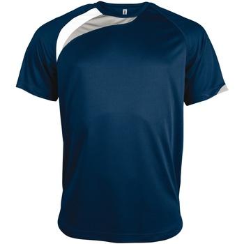 Abbigliamento Uomo T-shirt maniche corte Kariban Proact PA436 Blu/Bianco/Grigio