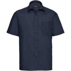 Abbigliamento Uomo Camicie maniche corte Russell 935M Navy francese