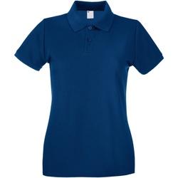 Abbigliamento Donna Polo maniche corte Universal Textiles 63030 Blu navy