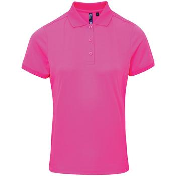 Abbigliamento Donna Polo maniche corte Premier PR616 Rosa neon