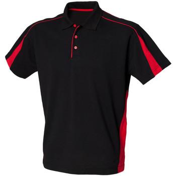 Abbigliamento Uomo Polo maniche corte Finden & Hales LV390 Nero/Rosso