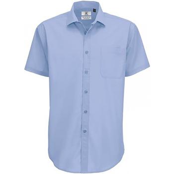 Abbigliamento Uomo Camicie maniche corte B And C SMP62 Azzurro