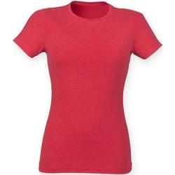 Abbigliamento Donna T-shirt maniche corte Skinni Fit SK161 Rosso Triblend