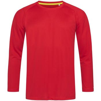 Abbigliamento Uomo T-shirts a maniche lunghe Stedman  Rosso