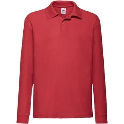 Abbigliamento Unisex bambino Polo maniche lunghe Fruit Of The Loom 63201 Rosso