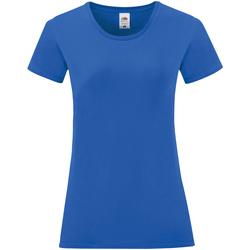 Abbigliamento Donna T-shirt maniche corte Fruit Of The Loom 61432 Blu reale