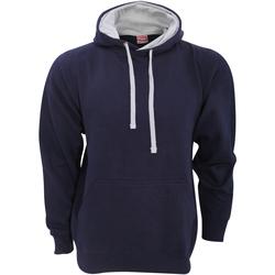 Abbigliamento Uomo Felpe Fdm FH002 Blu navy/Erica grigia