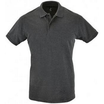 Abbigliamento Uomo Polo maniche corte Sols 11346 Carbone screziato