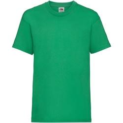 Abbigliamento Unisex bambino T-shirt maniche corte Fruit Of The Loom 61033 Verde kelly