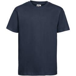 Abbigliamento Unisex bambino T-shirt maniche corte Russell 155B Blu scuro