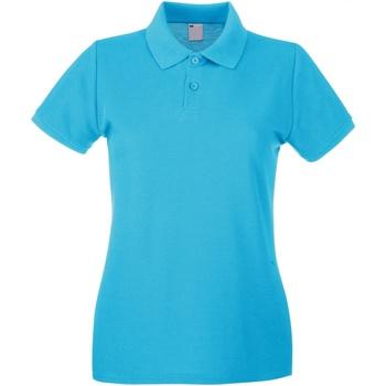 Abbigliamento Donna Polo maniche corte Universal Textiles 63030 Blu ciano
