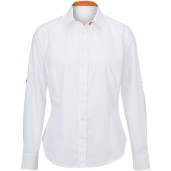 Abbigliamento Donna Camicie Alexandra AX060 Bianco/Arancione