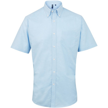 Abbigliamento Uomo Camicie maniche corte Premier PR236 Azzurro