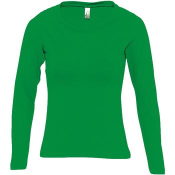 Abbigliamento Donna T-shirts a maniche lunghe Sols Majestic Verde kelly