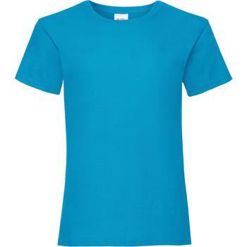 Abbigliamento Bambina T-shirt maniche corte Fruit Of The Loom Valueweight Azzurro