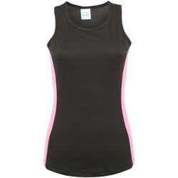Abbigliamento Donna Top / T-shirt senza maniche Awdis JC016 Nero/Rosa