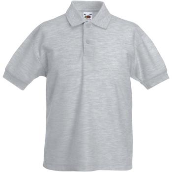 Abbigliamento Bambino Polo maniche corte Fruit Of The Loom 63417 Erica grigia