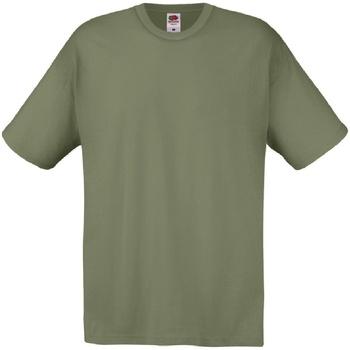 Abbigliamento Uomo T-shirt maniche corte Fruit Of The Loom 61082 Oliva Classico