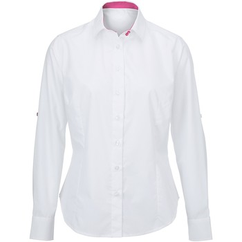 Abbigliamento Donna Camicie Alexandra AX060 Bianco/Rosa