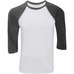 Abbigliamento Uomo T-shirts a maniche lunghe Bella + Canvas CA3200 Bianco/Grigio scuro