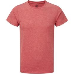 Abbigliamento Bambino T-shirt maniche corte Russell R165B Rosso screziato
