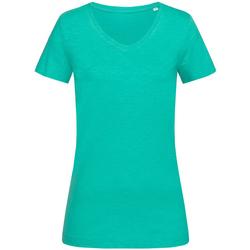 Abbigliamento Donna T-shirt maniche corte Stedman Stars  Verde acqua