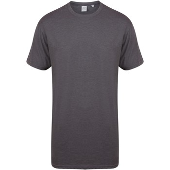 Abbigliamento Uomo T-shirt maniche corte Skinni Fit Dipped Hem Carbone