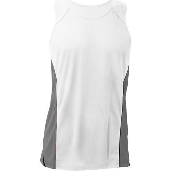 Abbigliamento Uomo Top / T-shirt senza maniche Gamegear KK973 Bianco/Grigio