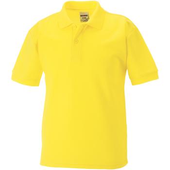 Abbigliamento Bambino Polo maniche corte Jerzees Schoolgear 539B Giallo