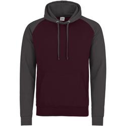 Abbigliamento Uomo Felpe Awdis JH009 Bordeaux/Carbone