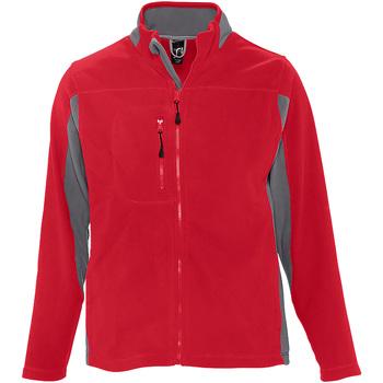 Abbigliamento Uomo Felpe in pile Sols 55500 Rosso/Grigio Medio