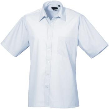 Abbigliamento Uomo Camicie maniche corte Premier PR202 Azzurro