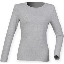 Abbigliamento Donna T-shirts a maniche lunghe Skinni Fit SK124 Erica grigia