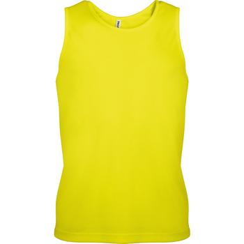 Abbigliamento Uomo Top / T-shirt senza maniche Kariban Proact PA441 Giallo fluorescente