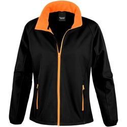 Abbigliamento Donna Felpe in pile Result R231F Nero/Arancione