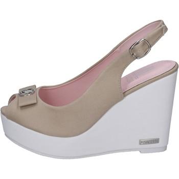 Scarpe Donna Sandali Lancetti sandali tela beige