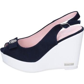 Scarpe Donna Sandali Lancetti sandali tela blu