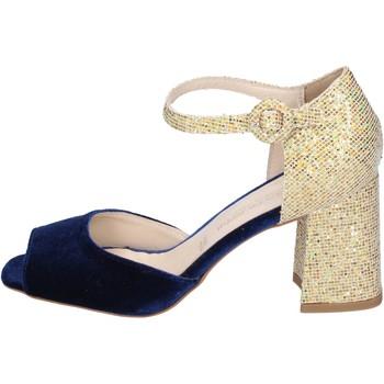 Scarpe Donna Sandali Olga Rubini sandali velluto glitter blu