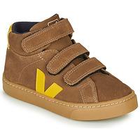 Scarpe Unisex bambino Sneakers alte Veja SMALL-ESPLAR-MID Marrone / Giallo