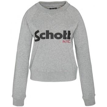 Abbigliamento Donna Felpe Schott Sweatshirt SW GINGER 1 W HEATHER GREY Grigio