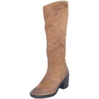 Stivali Malu Shoes  Stivali donna in vera pelle nubuk taupe spazzolato a mano con t  colore Beige