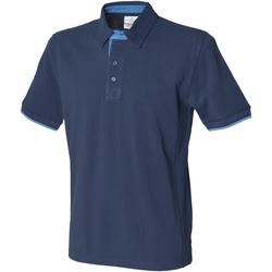 Abbigliamento Uomo Polo maniche corte Front Row FR200 Blu/Azzurro