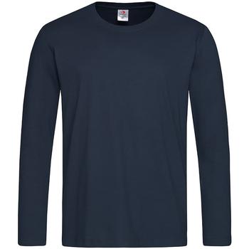 Abbigliamento Uomo T-shirts a maniche lunghe Stedman  Blu notte