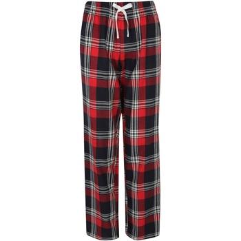 Abbigliamento Donna Pigiami / camicie da notte Skinni Fit Tartan Rosso/Blu Navy