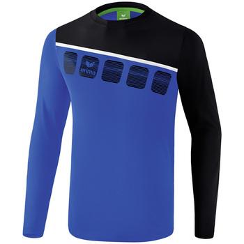 Abbigliamento Uomo Tuta Erima Haut d'entrainement manches longues  5-C bleu marine/noir/blanc