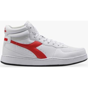 Scarpe Sneakers alte Diadora PLAYGROUND HIGH C0680 - WHITE -DARK RED