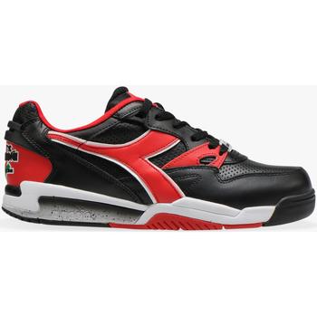 Scarpe Uomo Sneakers basse Diadora REBOUND ACE C0935 - NERO-ROSSO SCURO