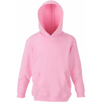 Abbigliamento Unisex bambino Felpe Fruit Of The Loom 62043 Rosa chiaro